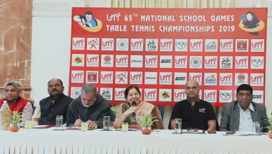 UTT 65th National School Games will be held at the Manjalpur Spots Complex of Table Tennis Championship 2019 from January 5 to 9.